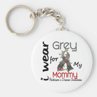 Parkinsons Disease I Wear Grey For My Mommy 43 Keychain