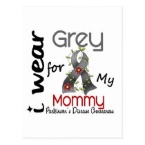 Parkinsons Disease I Wear Grey For My Mommy 43 Postcard