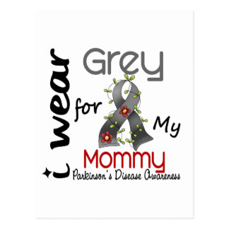 Parkinsons Disease I Wear Grey For My Mommy 43 Post Card