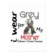 Parkinsons Disease I Wear Grey For My Mother 43 Postcard