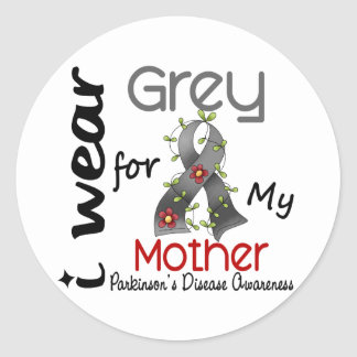 Parkinsons Disease I Wear Grey For My Mother 43 Classic Round Sticker