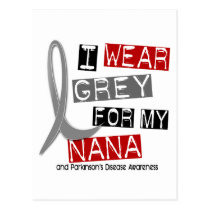 Parkinsons Disease I WEAR GREY FOR MY NANA 37 Postcard