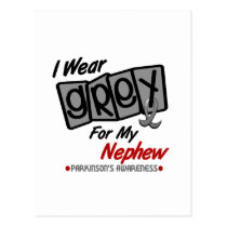 Parkinsons Disease I WEAR GREY For My Nephew 8 Postcard