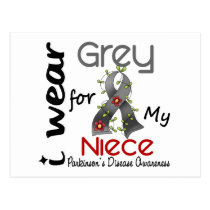 Parkinsons Disease I Wear Grey For My Niece 43 Postcard
