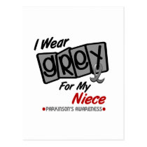 Parkinsons Disease I WEAR GREY For My Niece 8 Postcard