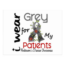 Parkinsons Disease I Wear Grey For My Patients 43 Postcard