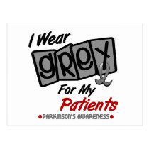 Parkinsons Disease I WEAR GREY For My Patients 8 Postcard