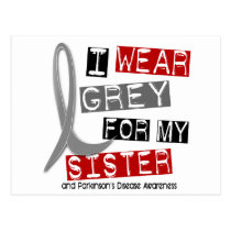 Parkinsons Disease I WEAR GREY FOR MY SISTER 37 Postcard