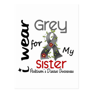 Parkinsons Disease I Wear Grey For My Sister 43 Postcards