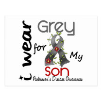Parkinsons Disease I Wear Grey For My Son 43 Postcard