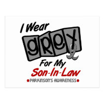 Parkinsons Disease I WEAR GREY For My Son-In-Law 8 Postcard