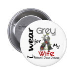 Parkinsons Disease I Wear Grey For My Wife 43 Pinback Buttons