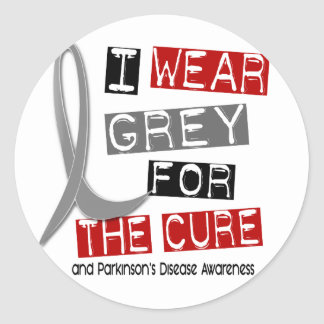 Parkinsons Disease I WEAR GREY FOR THE CURE 37 Classic Round Sticker