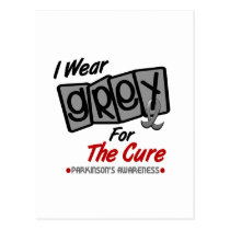 Parkinsons Disease I WEAR GREY For The Cure 8 Postcard