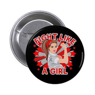 Parkinsons Disease Modern Rosie Fight Like a Girl Pin