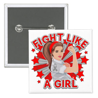 Parkinsons Disease Modern Rosie Fight Like a Girl Button