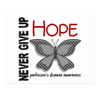 Parkinson's Disease Never Give Up Hope Butterfly 4 Postcard