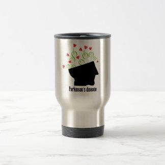 parkinson's disease, parkinsons disease, tulip 15 oz stainless steel travel mug