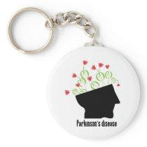 parkinson's disease, parkinsons disease, tulip keychain