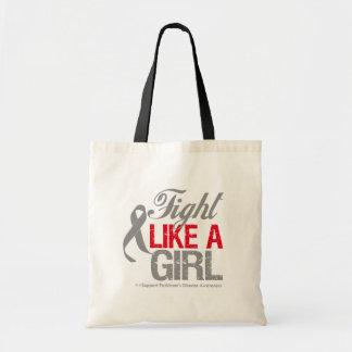 Parkinsons Disease Ribbon - Fight Like a Girl Tote Bag