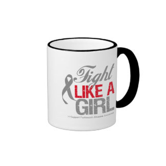 Parkinsons Disease Ribbon - Fight Like a Girl Mug