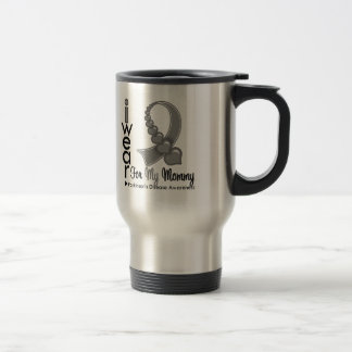 Parkinsons Disease Ribbon For My Mommy 15 Oz Stainless Steel Travel Mug