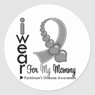 Parkinsons Disease Ribbon For My Mommy Classic Round Sticker