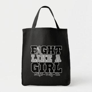 Parkinsons Disease Sporty Fight Like a Girl Canvas Bag