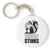 Parkinson's Disease Stinks Keychain