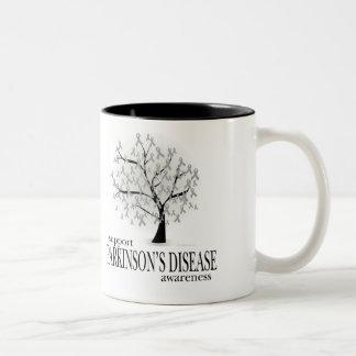 Parkinson's Disease Tree Two-Tone Coffee Mug