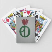 Parkinson's Disease Tulip Bicycle Playing Cards