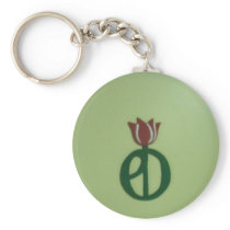 Parkinson's Disease Tulip Keychain