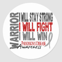 Parkinson's Disease Warrior Classic Round Sticker