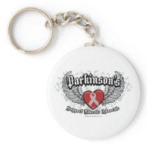 Parkinson's Disease Wings Keychain