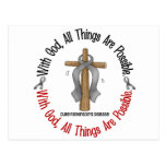 Parkinsons Disease WITH GOD CROSS Post Cards