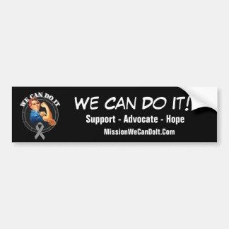 Parkinson's - Rosie The Riveter - We Can Do It Car Bumper Sticker