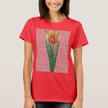Parkinsons Strength Burst Tulip RednYellow T-Shirt