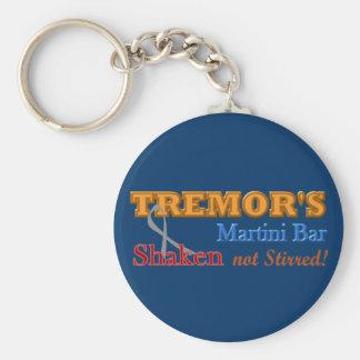 Parkinson's Tremor's Martini Bar Shaken Design Basic Round Button Keychain