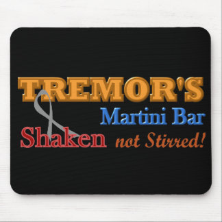Parkinson's Tremor's Martini Bar Shaken Design Mouse Pad