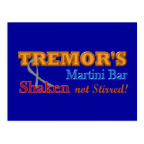 Parkinson's Tremor's Martini Bar Shaken Design Postcard