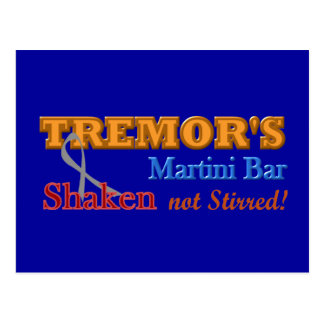 Parkinson's Tremor's Martini Bar Shaken Design Postcard