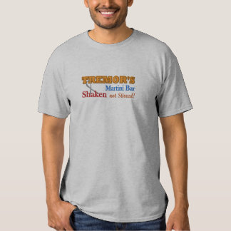 Parkinson's Tremor's Martini Bar Shaken Design T Shirt