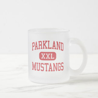 Parkland - Mustangs - High - Winston Salem 10 Oz Frosted Glass Coffee Mug