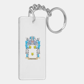 Parkman Coat of Arms - Family Crest Double-Sided Rectangular Acrylic Keychain