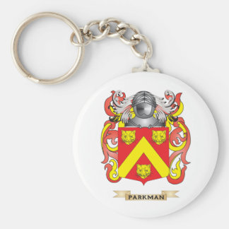 Parkman Coat of Arms (Family Crest) Basic Round Button Keychain