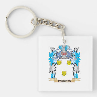 Parkman Coat of Arms - Family Crest Single-Sided Square Acrylic Keychain