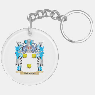 Parkman Coat of Arms - Family Crest Double-Sided Round Acrylic Keychain