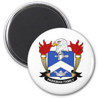 Parkman Family Crest 2 Inch Round Magnet