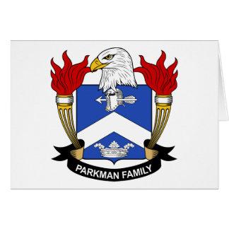 Parkman Family Crest Card