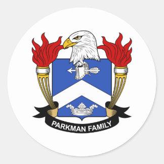 Parkman Family Crest Classic Round Sticker